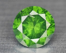 0.09  Cts Natural Sparkling Green Diamond Round Africa