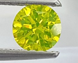 Neon Yellow Diamond,  Certified, VS1,   Top Quality,  High End Stone