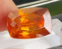 17.10cts, Sphalerite, Vivid Bright Orange,  Untreated