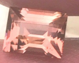 Master Cutter: Radiant Cut Golden Slightly Pinkish-Orange Tourmaline 2.2 ct