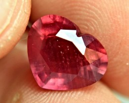 5.22 Carat Fiery Ruby Heart - Lovely