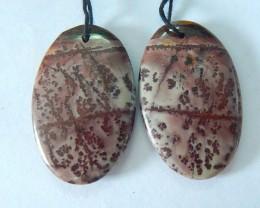 38CT Natural Chohua Jasper Elegant Charm Oval Earrings For Gir(17070811)