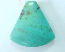 56ct Natural Chrysocolla Pendant Bead(17070906)
