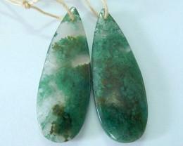 35ct Natural Moss Agate Teardrop Earrings,Wholesale Gemstone Women Earrings