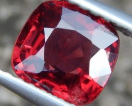 1.28cts, Burmese Red Spinel, 100% Untreated,