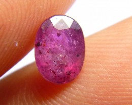 1.53cts Natural Ruby , Untreated Gemstone