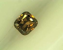 0.08ct  Fancy Deep Orangish Brown Diamond , 100% Natural Untreated Gemstone