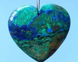 178ct Hot Sale! Natural Azurite Heart Pendant Bead(17071010)