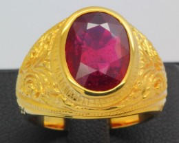 54.64ct 925 Sterling Silver Natural Madagascar Ruby Ring size 8