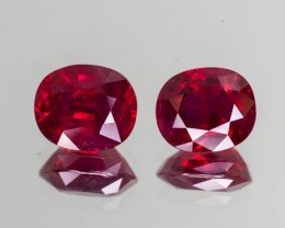 5.44tcw Burma Ruby Matching Pair