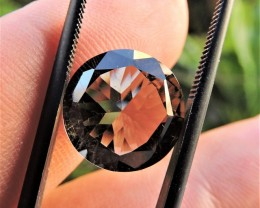 6.25ct FACETED BRAZILIAN SMOKEY QUARTZ EYECLEAN GEMSTONE CUT IN THE U.S MJ1