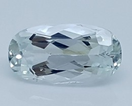 4.60CT AQUAMARINE SEA BLUE BEST QUALITY GEMSTONE IGC30