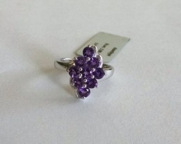 Amethyst 925 Sterling silver ring #36500