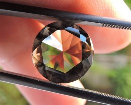6.55ct VVS FACETED BRAZILIAN SMOKEY QUARTZ GEMSTONE CUT IN THE U.S MJ127