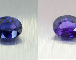 Natural Ceylon Blue Sapphire, ** ROYAL BLUE - Colour Change ** 1.33 Ct (004