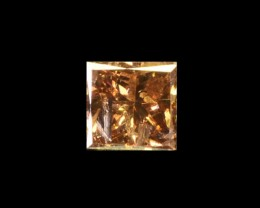 0.11 Cts Natural Brown Diamond Princess Africa