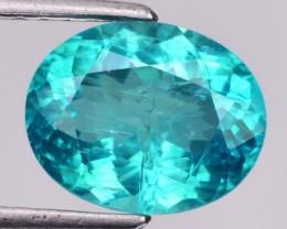 3.49 Cts Natural Blue Green Apatite Oval Cut Brazil Gem