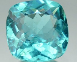 1.40 Cts Natural Blue Green Apatite Cushion Cut Brazil Gem