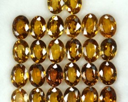 32.86 Cts Natural Orangish Yellow Zircon Oval 26 Pcs Parcel