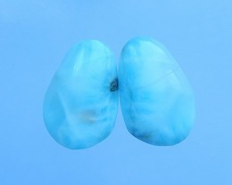23.5ct  Natural larimar Earring Pair(17071304)