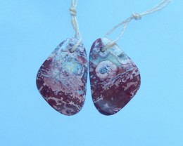 14.5ct Natural Chohua Jasper Earring Pair(17071308)