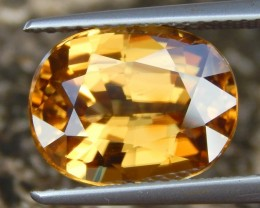 9.72cts, Yellow Zircon,  VVS1 Eye Clean,  Vivid Yellow