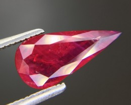 1.55 Ct Untreated Ruby Awesome Color ~ Mozambique. JI1