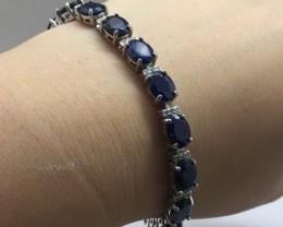 Genuine $1300 Natural 72.0tcw. Blue Sapphire Bracelet