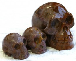 Cute Jasper family Gemstone Skull  PPP 1350