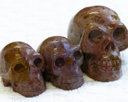 Cute Jasper family Gemstone Skull  PPP 1348