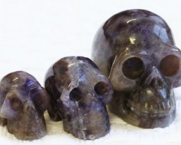 Cute Amethyst family Gemstone Skull  PPP 1352