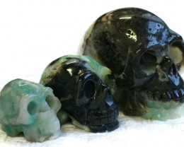 Cute Amazonite family Gemstone Skull  PPP 1357