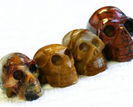 Cute Jasper family Gemstone Skull  PPP 1365