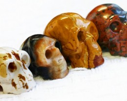 Cute Jasper family Gemstone Skull  PPP 1364