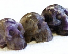Cute Amzonite family Gemstone Skull  PPP 1361