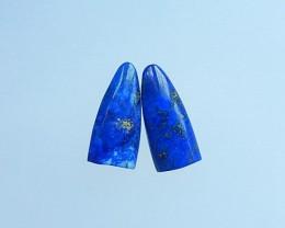 9.5ct Natural Lapis Lazuli Cabochon Pair(17071705)