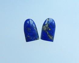 8.5ct Natural Lapis Lazuli Cabochon Pair(17071706)