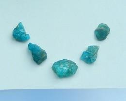 33.5ctNatural 5 PCSBlue Apatite Crystal Cabochons(17071710)