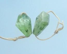 20.5ct NaturalGreenQuartz Earring Pair(17071714)