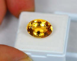 6.99Ct Natural Yellow Citrine Oval Cut Lot V682