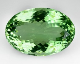44.00 Cts Natural Green Amethyst/Prasiolite Oval CUt Brazil Gem