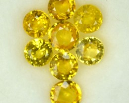 5.42 Cts Natural Canary Yellow Sapphire Round 8 Pcs Parcel