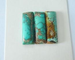 Sell 3pcs Semiprecious Stone Turquoise Cabochons Set (17071806)