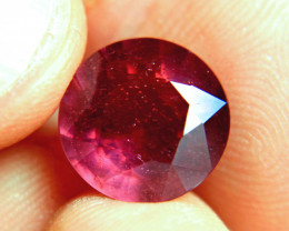9.14 Carat Fiery Round Ruby - Superb