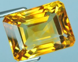 10.95 Cts DAZZLING NATURAL ULTRA RARE OCTOGON CUT GOLDEN YELLOW CITRINE
