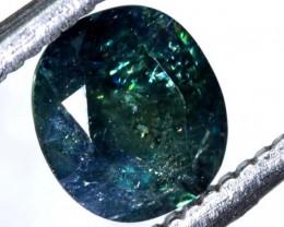 1.36CTS UNHEATED CERTIFIED AUSTRALIAN GREEN-BLUE SAPPHIRE GEMSTONE TBM-1306