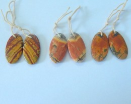 Hot Sale,Sell 3pairs Muti Color Picasso Jasper Earring pairs(17072001)