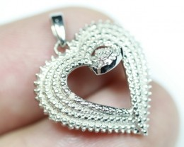 10.94Ct Stamped 925 Silver Natural Diamond Pendant Jewelry