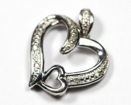 7.83Ct Stamped 925 Silver Natural Diamond Pendant Jewelry