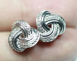 17.33Ct Stamped 925 Silver Natural Diamond Earrings Jewelry